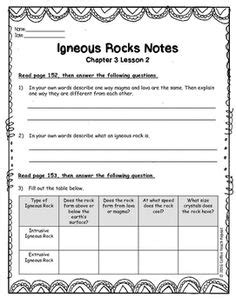 Igneous Rocks Worksheet The Best Worksheets Image Collection  Download And Share Worksheets