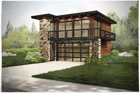 Contemporary Garage Designs by Contemporary Garage W Apartments Modern House Plans Home