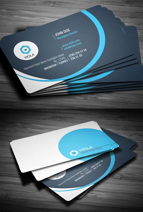 modern business cards psd templates print ready