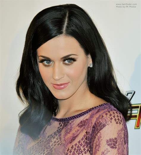 Is Black Hair Considered by Katy Perry With Blue Black Hair That Touches Shoulders
