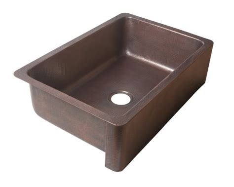 discount copper farmhouse sinks ecosinks k1a 1004nd apron front dual mount hammered 0 hole