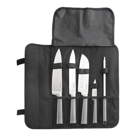 sacoche couteaux cuisine sacoche 4 couteaux de cuisine et fusil à aiguiser pradel