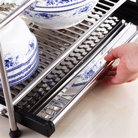 tier layer high quality stainless steel kitchen drying draining storage rack