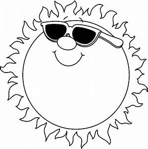 Hot Weather Clipart Black And White - ClipartXtras