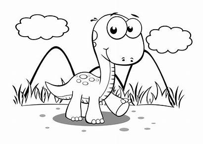 Dinosaur Coloring Dinosaurs Printable Dinosaurus Sheets Gambar