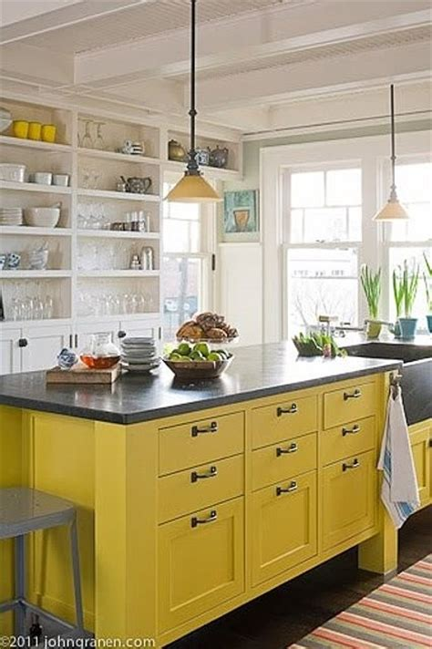 yellow kitchen island 20 gorgeous kitchens with islands interior for 1219