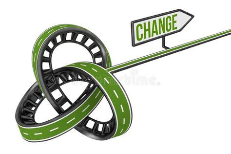 change sign stock photo illustration