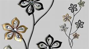 Deco Murale Metal Fleur : d coration m tal fleur stylis e 95 cm ~ Teatrodelosmanantiales.com Idées de Décoration