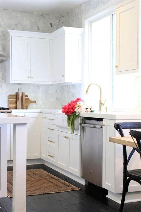 white kitchens  gold accents kitchen makeover