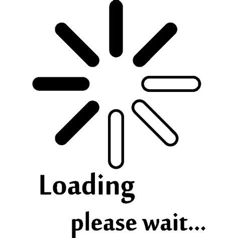 Sticker Ordinateur Loading Please Wait