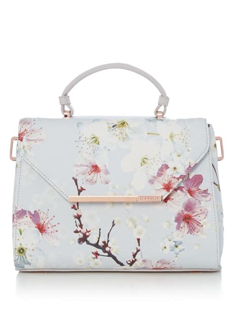 lyst ted baker harmon large floral crosshatch tote bag