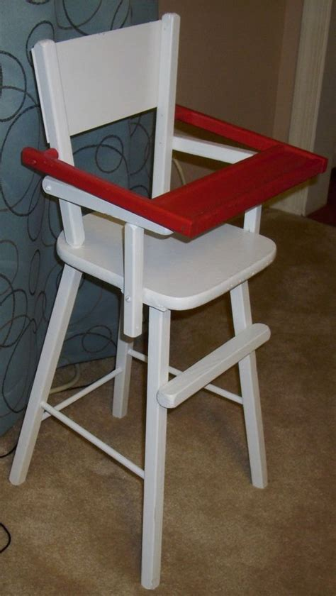vintage wood wooden doll baby high chair furniture wflip