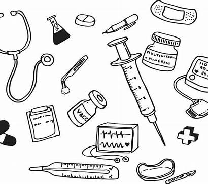Coloring Pages Aid Medical Assistant Drawing Equipment