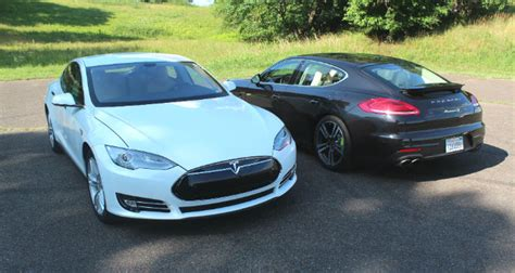 porsche tesla price review video 2014 porsche panamera s e hybrid vs