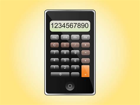 iphone calculator iphone calculator vector