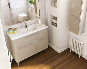 Meuble Pour Petite Salle De Bain : meuble salle de bain moderne mobilier armoires etc ~ Edinachiropracticcenter.com Idées de Décoration