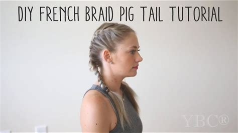 french braid pigtail tutorial youtube