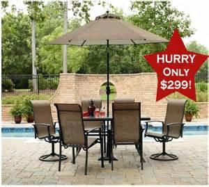 hot buy garden oasis harrington 7 piece patio set for