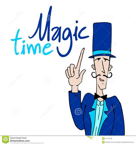 magic time message stock vector image 57107639
