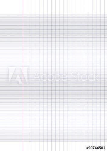 Ce générateur permet de créer une feuille à petits carreaux sous forme de fichier pdf. FEUILLE DE PAPIER A4 à grands carreaux Vecteur Stock | Adobe Stock