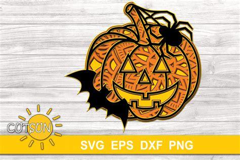 Learn how to make a layered mandala with cardstock. Halloween SVG | 3D Layered Jack O Lantern Mandala SVG ...