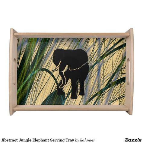 abstract jungle elephant serving tray zazzlecom