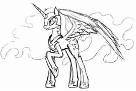 Nightmare Moon Coloring Pages