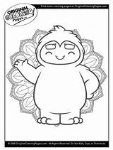 Coloring Yeti sketch template