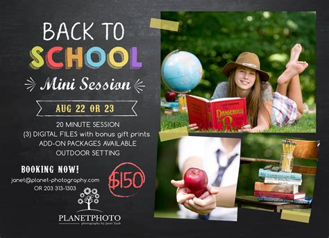 Back To School Minis With Planet Photo