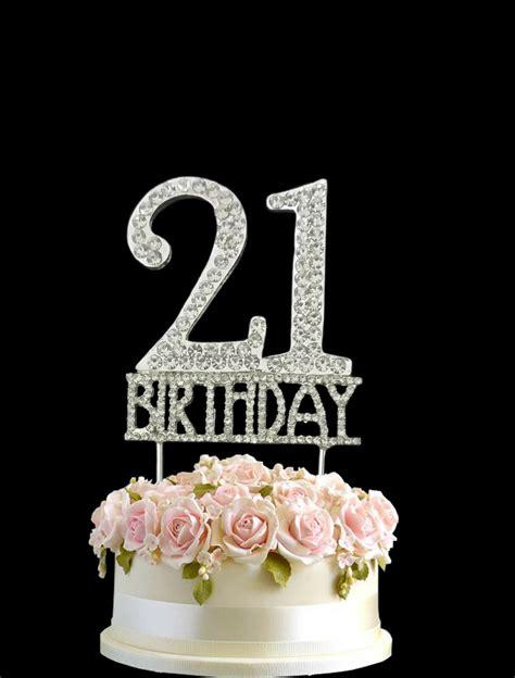 crystal monogran happy st birthday cake topper