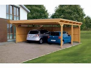 Garage 2 Voitures : plan carport bois 2 voitures ~ Melissatoandfro.com Idées de Décoration