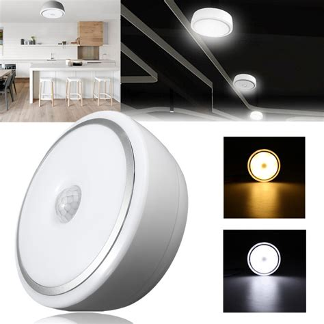 12w pir motion sensor infrared led ceiling l light