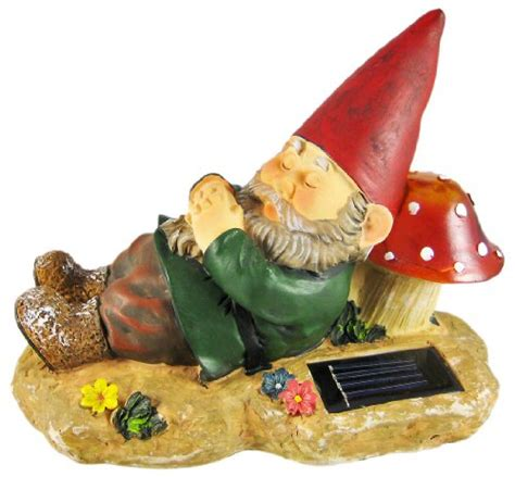 shop for sleeping garden gnome solar powered accent light