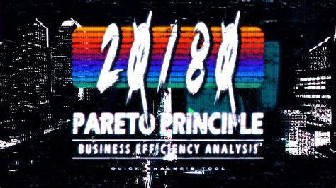 Use 80/20 or Pareto Principle theory for efficiency ...