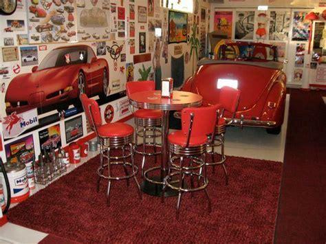 Retro Pub Table: Bar Stools, Red, Custom Made, Bar Height