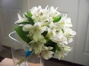 white alstroemeria bridesmaid bouquet wedding bouquets