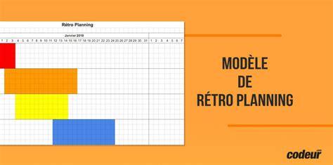 modèle planning excel gratuit comment faire un r 233 troplanning mod 232 le excel 224 t 233 l 233 charger