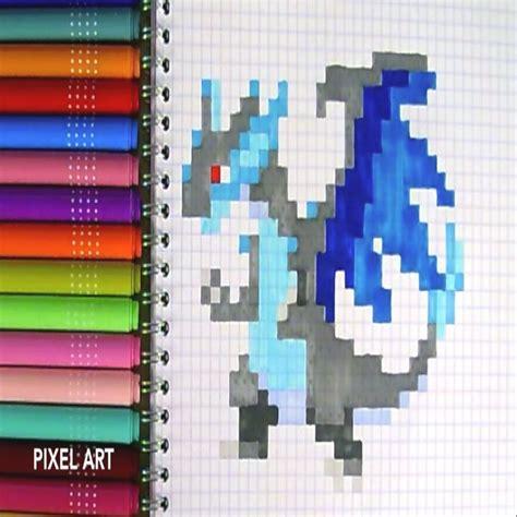 Pixel Art Pokemon Mega Dracaufeu