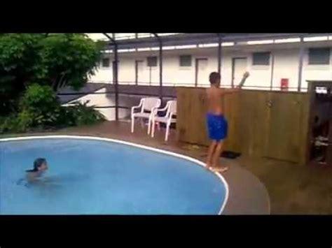 Swimming Pool Backflip Fail Youtube