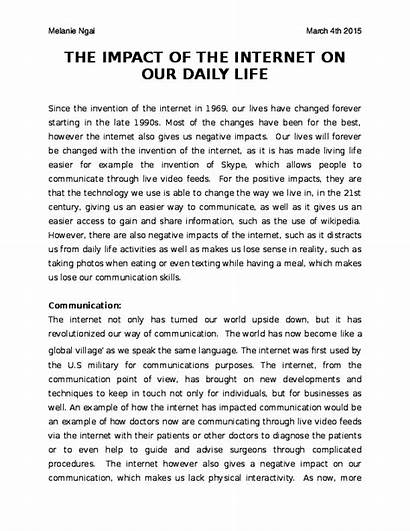 Internet Impact Daily Academia