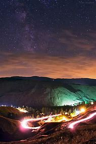 Galaxy Milky Way Over Mountain