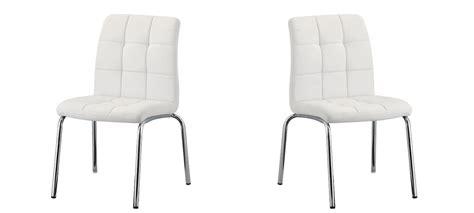 chaise blanche salle a manger chaise de cuisine blanche en simili cuir à prix cassé
