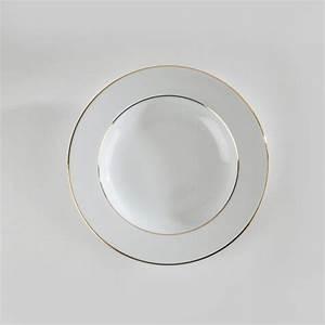 Assiette Creuse Blanche : location d 39 assiettes creuses porcelaine blanche filet or ~ Teatrodelosmanantiales.com Idées de Décoration