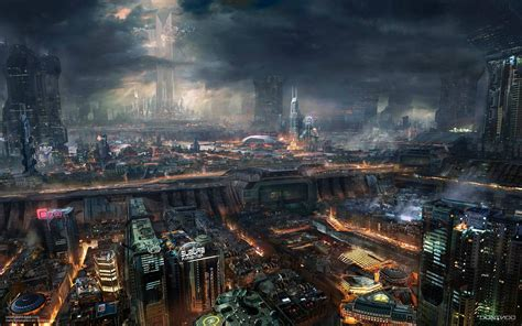 awesome future city  desktop wallpaper hd wallpapers
