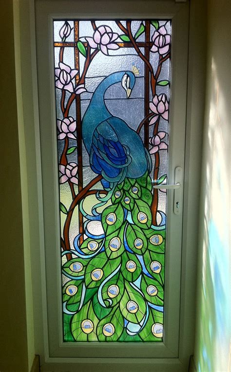 completed traditional stained glass window