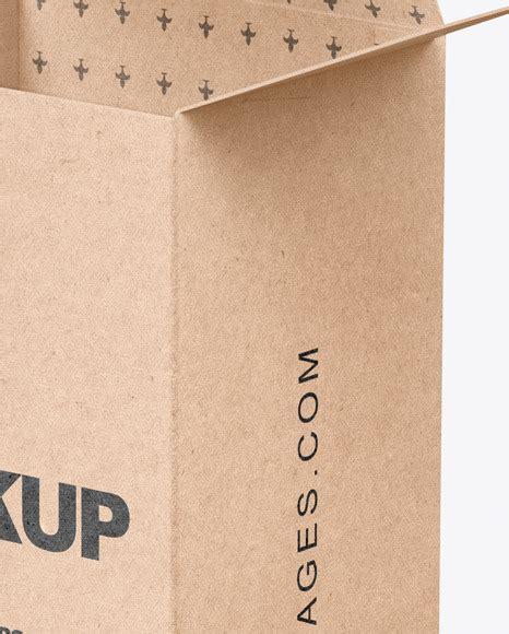 Mockup of pizza box 19 августа 2020, 01:30. Download Opened Kraft Paper Mailing Box Mockup PSD ...