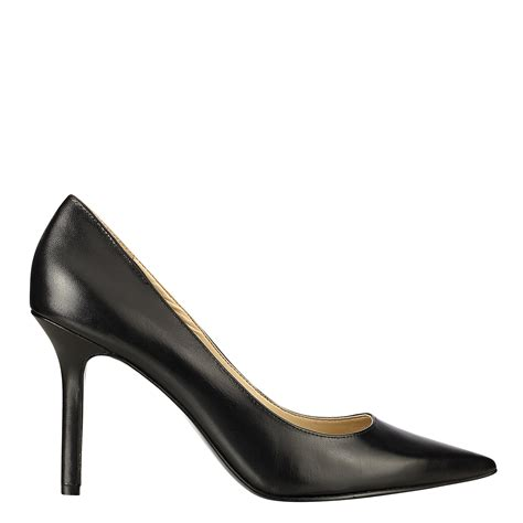 west martina pointy toe pumps  black black leather