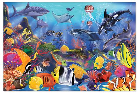 amazon com melissa doug underwater 48 piece floor