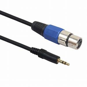 3 Pin Xlr Female To 3 5mm 1  8 U0026quot  Trs Stereo Jack Male
