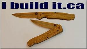 Making a Wooden Folding Knife - YouTube